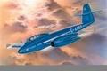 Картинка war, art, airplane, painting, aviation, jet, Gloster Meteor T.Mk.7
