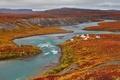 Картинка Нунавут, рыбацкие домики, Канада, река, Китикмеот