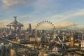Картинка Лондон, будущее, парк, развлечений, аттракционы