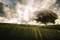 Картинка облака, планета, Поля