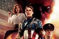 Картинка Captain America, Red Skull, Крис Эванс, Хьюго Уивинг, Hugo Weaving, Первый мститель, Chris Evans, Томми ...