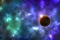 Картинка космос, звезды, планета, туманности