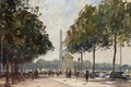 Картинка картина, городской пейзаж, Эдуард Сиго, Вход на Елисейские Поля