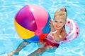 Картинка Ball, бассейн, радость, лето, Pools, шар, Little girls, child, улыбка, ребенок, beautiful, девочка