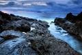 Картинка Португалия, море, вода, скалы, небо, острова, восход солнца, Мадейра, облака