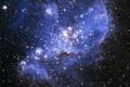 Картинка голубые, скопление, звезды, яркие