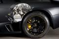 Картинка LP710-2, Christian Audigier, Edo Competition, Lamborghini, ламборгини, Murcielago, мурселаго, Black, черный, колесо, череп, 2009, диск
