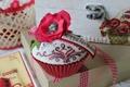 Картинка цветок, мак, сладость, пирожное