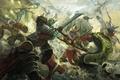 Картинка битва, dota, art, dota 2, Elder Titan, Venomancer, Legion Commander, moba, Omniknight, Wraith King, Skywrath ...