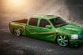Картинка сильверадо, lowrider, Silverado, зелёный, пикап, шевроле, green, Chevrolet, pick-up, Doc Fluty