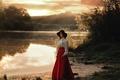 Картинка look, Maks Kuzin, Даша, блики, outdoor, лето, light, эффекты, natural, боке, Daria, природа, юба, пейзаж, ...