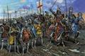 Картинка небо, меч, шлем, Рыцари, стрелы