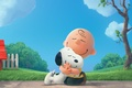 """Картинка Snoopy and Charlie, dog crate, Snoopy, """"Sniffy"""", The Peanuts Movie, The Peanuts, Woodstock, Charles M. ..."""