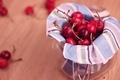 Картинка широкоэкранные, сладкое, HD wallpapers, обои, вафли, малина, полноэкранные, вишня, background, fullscreen, ягода, красный, широкоформатные, фон, ...