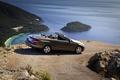 Картинка море, лето, горы, Мерседес, Mercedes, кабриолет, E class cabrio