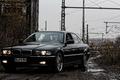 Картинка Черный, BMW, Бумер, БМВ, Грязь, Фары, E38, bimmer, 740i