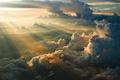 Картинка утро, облака, восход, высота