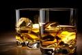 Картинка glass, alcohol, ice, whiskey
