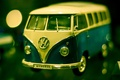 Картинка макро, фото, фон, обои, игрушка, Volkswagen, машинка, микроавтобус, Transporter
