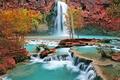 Картинка Водопад, деревья