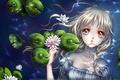 Картинка Каори minakami, пруд, водяные лилии, вода