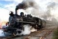 Картинка Steam train, locomotive, railways, паровоз, рельсы, железная, дорога