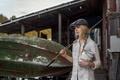 Картинка взгляд, Maxim Guselnikov, рубашка, Алиса Тарасенко, лицо, retro, девушка, young, модель, портрет, шляпа, vintage, лодка, ...