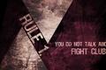 Картинка Бойцовский клуб, fight club, rule 1, первое правило