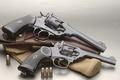Картинка Revolver, Webley & Scott Mark IV, патроны, 2 штуки, револьвер, кобура
