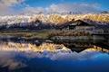 Картинка отражение, горы, Queenstown, Куинстаун, озеро Уакатипу, Новая Зеландия, New Zealand, Lake Wakatipu