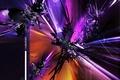 Картинка Линии, фиолетовый, оранжевый