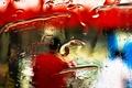Картинка цвет, стекло, свет, вода, текстура, капли