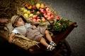 Картинка коляска, фрукты, мальчик