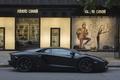 Картинка чёрный матовый, black matte, street, авентадор, роберто кавалли, ламборгини, lp700, aventador, бутик, lamborghini, профиль, улица, ...