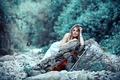 Картинка девушка, скрипка, смычок, Butterflies, Alessandro Di Cicco