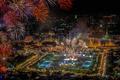 Картинка праздник, Бангкок, фейерверк, панорама, Таиланд, салют, огни, ночь