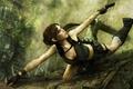 Картинка Лара крофт, джунгли, пистолет