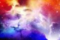 Картинка красный, синий, звёзды, Starscape, сиреневый, космос