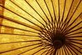 Картинка желтый, зонт, деревянный