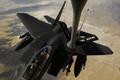 Картинка самолет, заправка, ввс сша, F-15E Strike Eagle