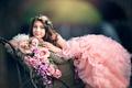 Картинка цветы, Floral Princess, Ashlyn Mae.девочка, платье
