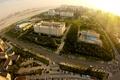 Картинка дорога, солнце, пейзаж, машины, city, город, здания, высота, горизонт, панорама, строения, scenery, building, Best view, ...