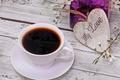 Картинка flowers, spring, cup, love, heart, coffee