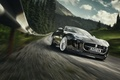 Картинка Photography, Car, Black, F-Type S, Sport, Jaguar, Road, Speed, Forest