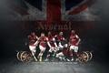Картинка флаг, Арсенал, игроки, Arsenal, англичане, Football Club, The Gunners, Theo Walcott, Канониры, Футбольный клуб, Jack ...