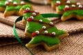 Картинка праздник, еда, печенье, Рождество, Новый год, Happy New Year, Merry Christmas, holiday, ribbon, cookie, biscuits