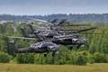 Картинка ударные, Mi-28, полет, вертолёты