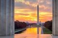 Картинка США, округ Колумбия, Мемориал Линкольна, Монумент Вашингтона, Капитолий, Вашингтон