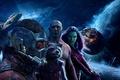 Картинка постер, Peter Quill, Крис Прэтт, Chris Pratt, Gamora, Groot, Guardians of the Galaxy Vol. 2, ...
