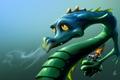 Картинка взгляд, зеленый, рыцарь, арт, горит, шлем, доспехи, морда, дракон, Zsolt Kosa, огонь